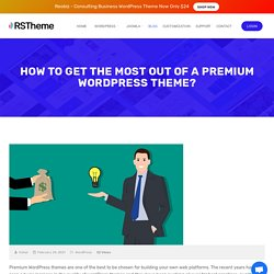 How to get the most out of a Premium Wordpress Theme?