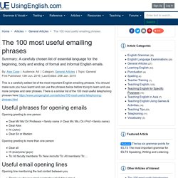 The 100 most useful emailing phrases