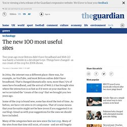The new 100 most useful sites | Technology | Guardian Unlimited Technology