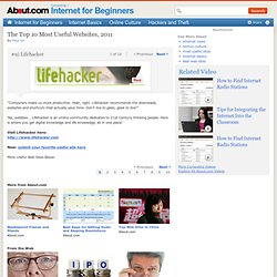 The 10 Most Useful Web Sites -- #9) Lifehacker