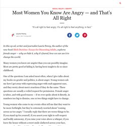 Most Women You Know Are Angry — and That's All Right