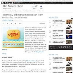 Washington Post 10 saker en tonåring kan lära på sommaren