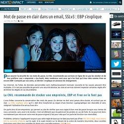 Mot de passe en clair dans un email, SSLv3 : EBP s'explique