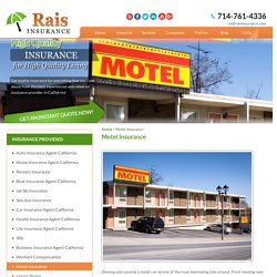 Get Motel Insurance in California - Rais Insurance Services, INC