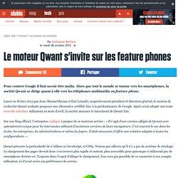 Le moteur Qwant s'invite sur les feature phones