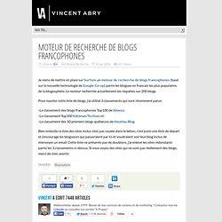 Moteur de Recherche de Blogs francophones