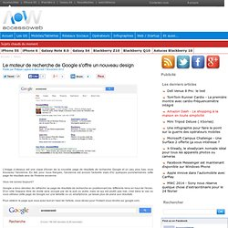Le moteur de recherche de Google s'offre un nouveau design