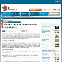 Créer un moteur de recherche personnalisé
