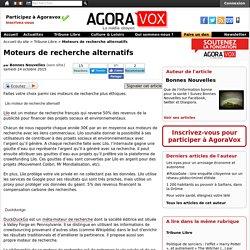 Moteurs de recherche alternatifs - AgoraVox le média citoyen
