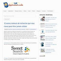 12 autres moteurs de recherche que vous n'avez peut-être jamais utilisés ~ Applications du Net
