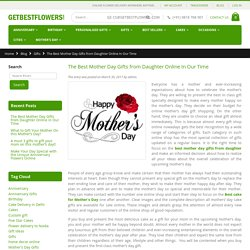 The Best Mother Day Gifts from Daughter Online In Our Time - Getbestflowers Blog