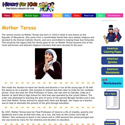 Mother Teresa - History for Kids
