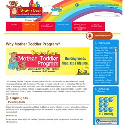 Mother Toddler Program