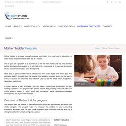 Join Mother Toddler Program