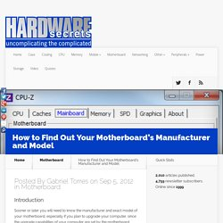How to Find Out Your Motherboard's Manufacturer and Model