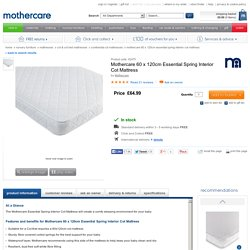Mothercare 60 x 120cm Essential Spring Interior Cot Mattress - continental cot mattresses - Mothercare