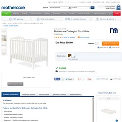 Mothercare Darlington Cot - White - cots - Mothercare
