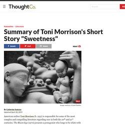 """Race and Motherhood in Toni Morrison's """"Sweetness"""""""