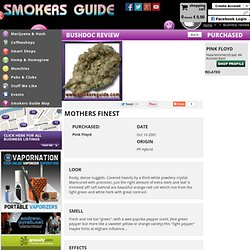 Smokers Guide Marijuana review for: Mothers Finest from Amsterdam coffee shop :Pink Floyd