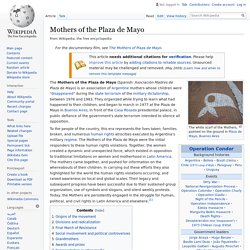 Mothers of the Plaza de Mayo - Wikipedia