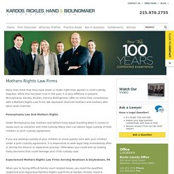 Mothers Rights Law Firms