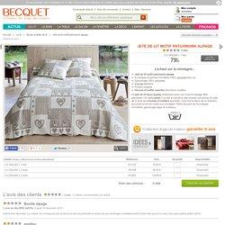 Jeté de lit motif patchwork alpage