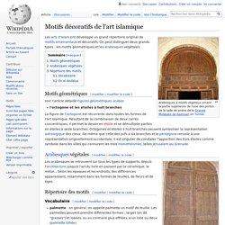 Motifs décoratifs de l'art islamique