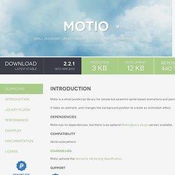 Motio - jQuery plugin