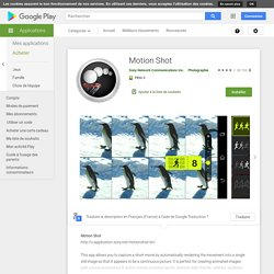 Motion Shot – Applications Android sur Google Play