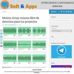 Motion Array: música libre de derechos para tus proyectos
