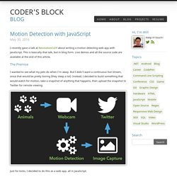 Coder's Block Blog / Motion Detection with JavaScript