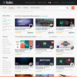 TUTO MOTION DESIGN AFTER EFFECTS , 59 Formations Motion Design After Effects en vidéo sur TUTO.COM