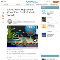 How to Make Stop-Motion Videos on iPads