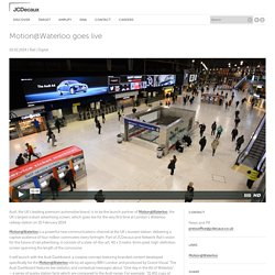 Motion@Waterloo goes live