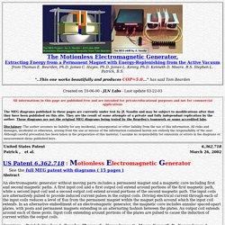 """The MEG - """"Motionless Electromagnetic Generator"""" from Tom Bearden"""