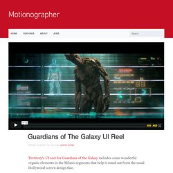 Guardians of The Galaxy UI Reel