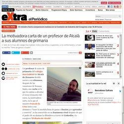 La motivadora carta de un profesor de Alcalá a sus alumnos de primaria