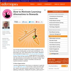 How to Motivate Learning: Alternatives to Rewards