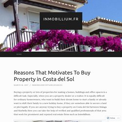 Reasons That Motivates To Buy Property in Costa del Sol