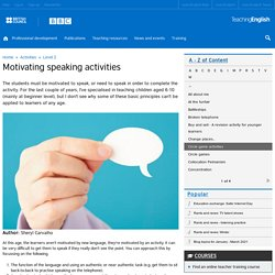Motivating speaking activities