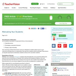 Motivating Your Students: Teaching Advice & Tips