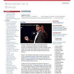 Motivation at a Glance: An ISchool Collaborative