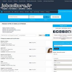 Profil Culturel: CV, lettre de motivation, candidatures