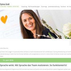 Blog zu NLP, Motivation & Coaching - Sylvia Graß
