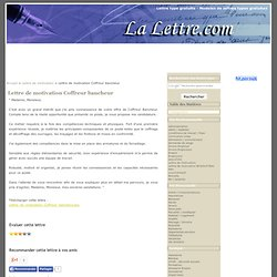 Coffreur bancheur