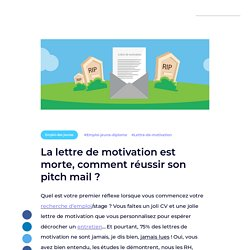 La lettre de motivation est morte, comment réussir son pitch mail ? - La Ruche par Wizbii