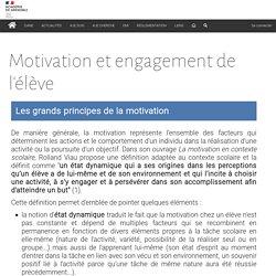 Motivation et engagement de l'élève