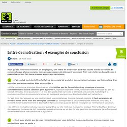 Lettre de motivation : 4 exemples de conclusion