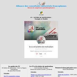 CV - Lettre de Motivation gratuite - exemples et modèles gratuits