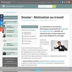 Motivation au travail et implication, sélection d'articles